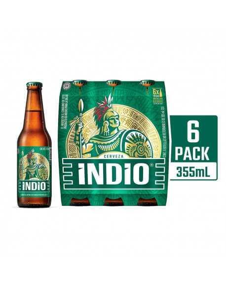 Six Cerveza Indio 355 ml