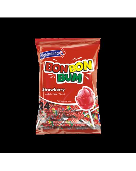 BON BON BUM Erdbeer -Fresa 24St  408gr  Lollies