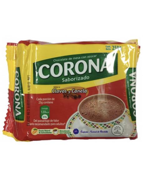 Chocolate Corona Clavos y Canela  250 gr