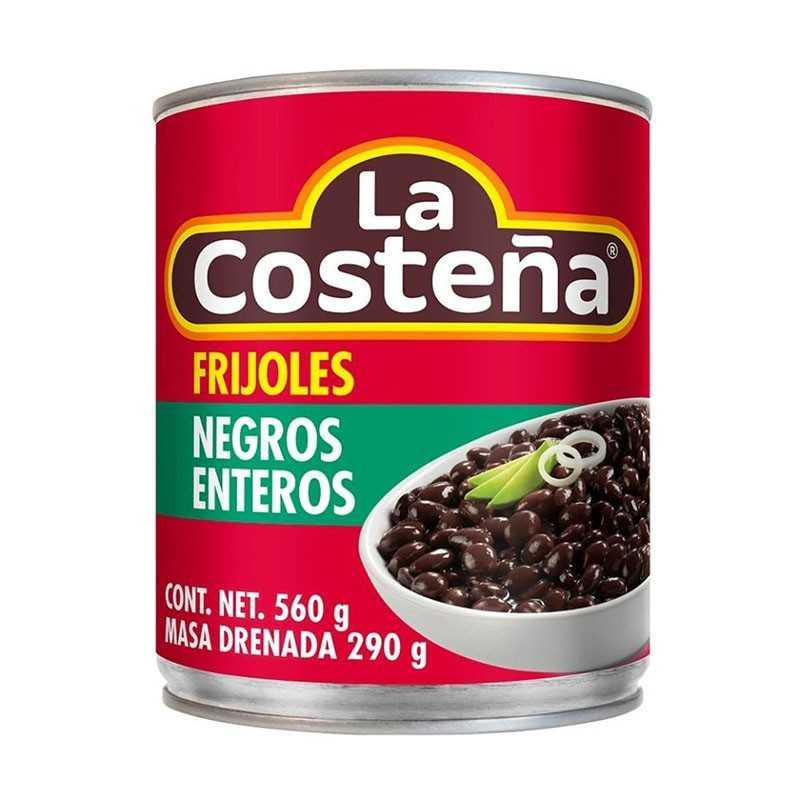 Ganze Schwarze Bohnen (Frijoles Enteros Negros) LA COSTENA 560 g